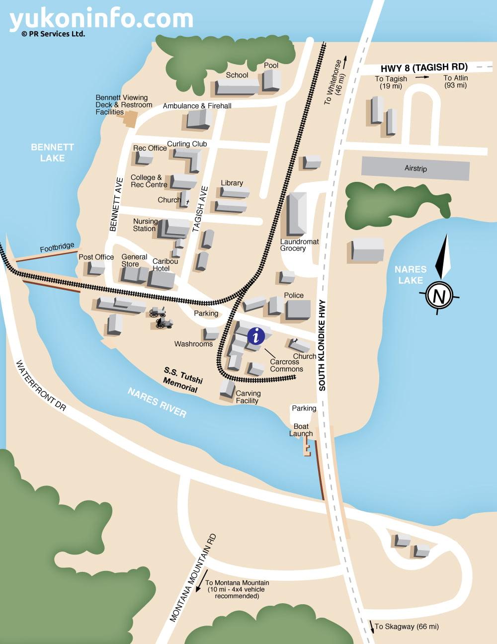 Carcross Map - Yukon map