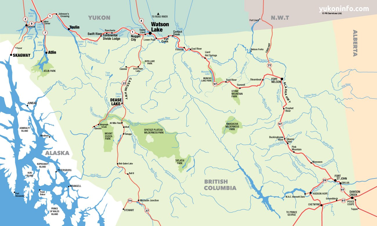 21 fantastic Northern British Columbia Map bnhspinecom