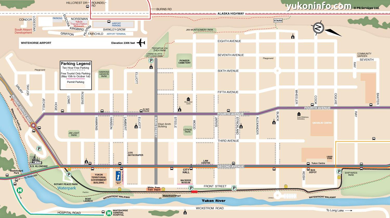 Whitehorse Downtown Map