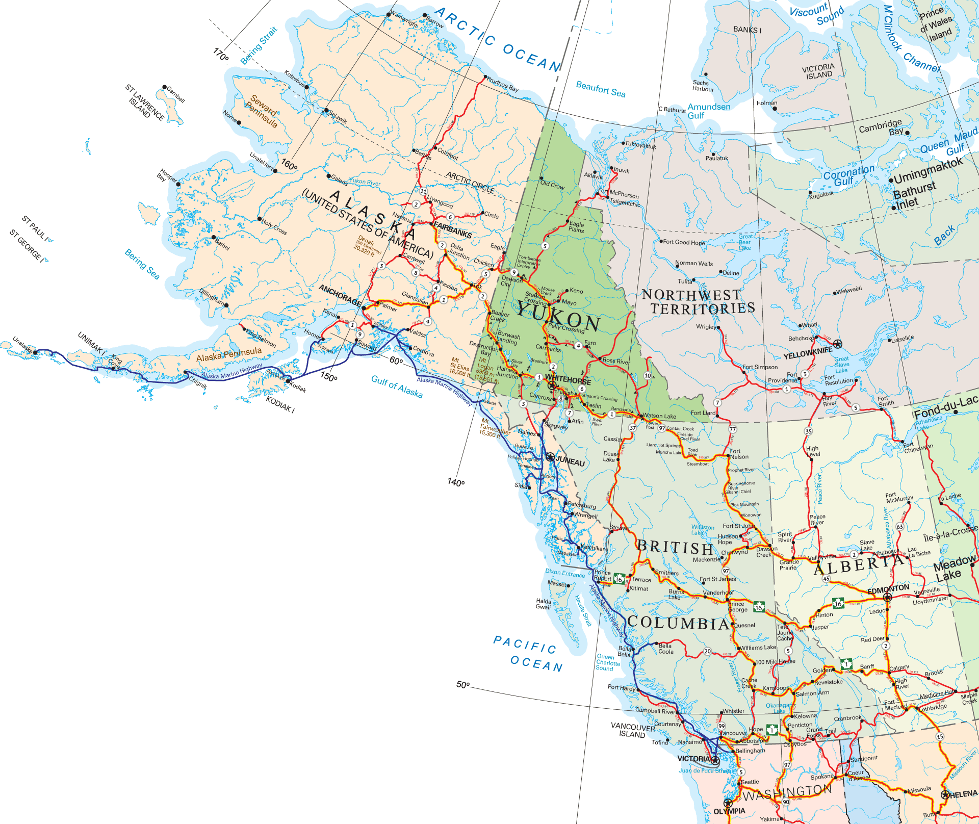 Map Of North West America