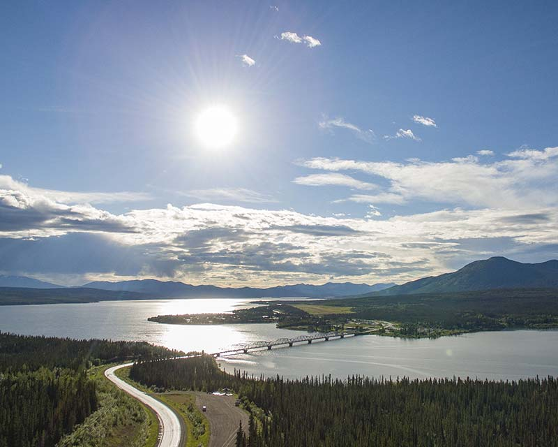 Teslin, Yukon Aerial Photo