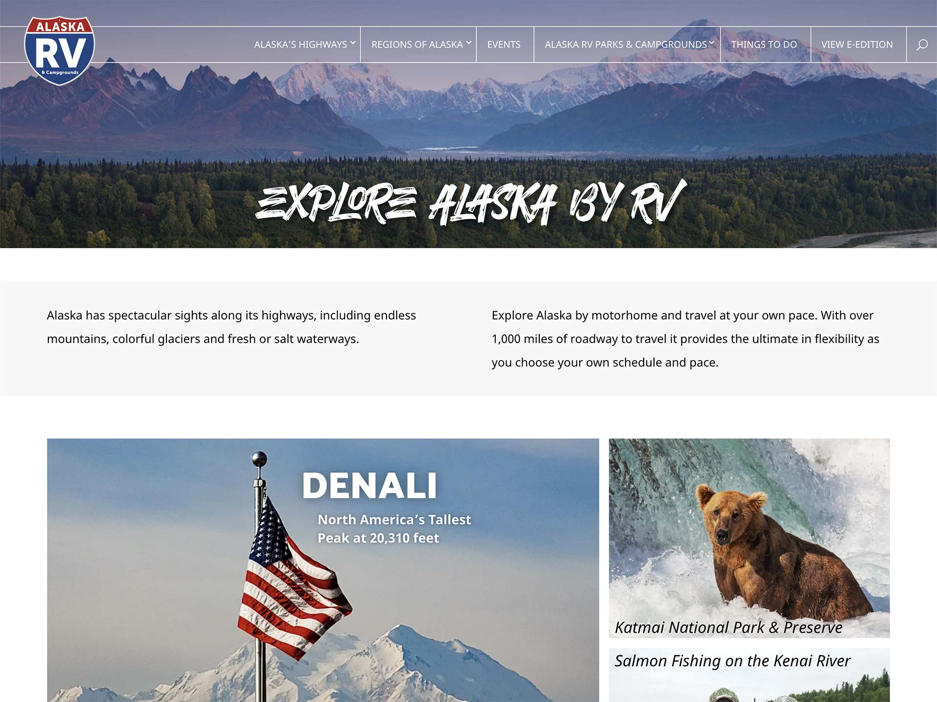 Alaska Information Web Site designed by PR Services Ltd. - Whitehorse Advertising Agency