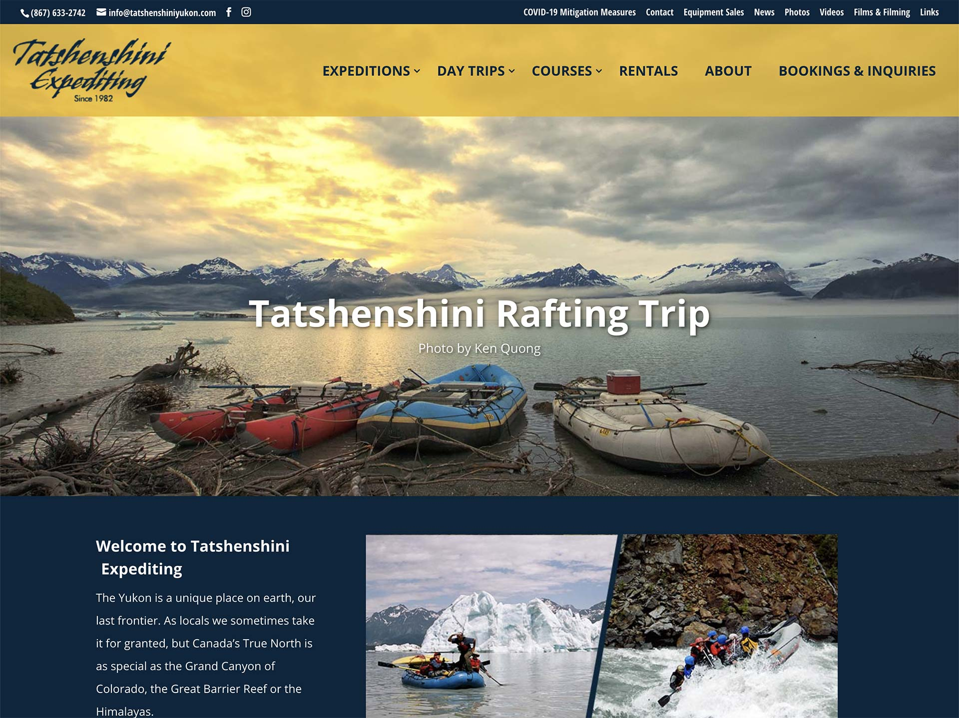 Yukon Web Site Designed for small businesses